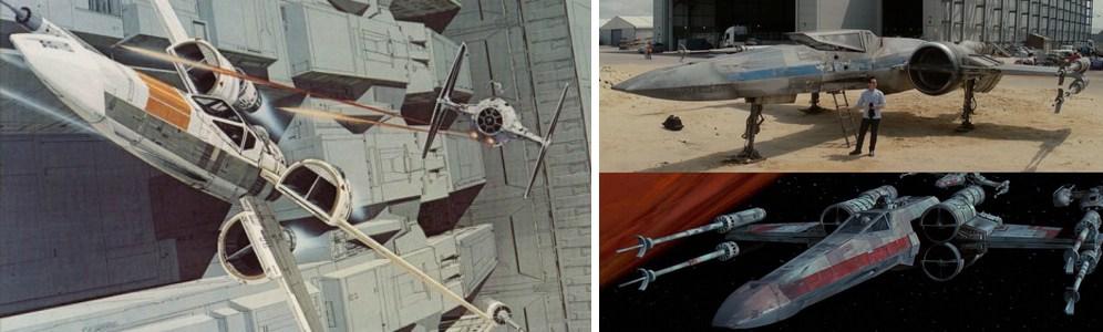 Los X-Wings de El Despertar de la Fuerza son más parecidos a los diseños de Ralph que a los visto en la trilogía clásica, y si no fijaos en las turbinas